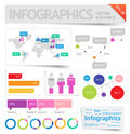 Infographic design elements vector saved as eps file contains objects transparency shadows etc Stock Images
