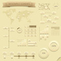 Infographic design elements vector saved as eps file contains objects transparency shadows etc Royalty Free Stock Image