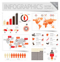 Infographic design elements vector saved as eps file contains objects with transparency shadows etc Royalty Free Stock Image