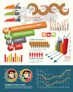 Infographic design elements for your business Royalty Free Stock Images
