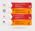 Infographic design with red orange navigation menu Royalty Free Stock Images