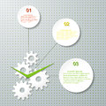 Infographic design template with cogwheel vector illustration Royalty Free Stock Images