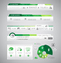 Infographic design template with design elements Stock Image