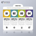 Infographic design template with 4 steps. Vector