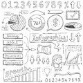 Infographic doodles elements illustrated in a doodled style Royalty Free Stock Photography