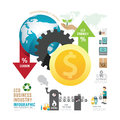 Infographic eco business industry concept with icons vector Royalty Free Stock Photo