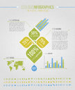 Infographic ecologic element Royaltyfri Bild