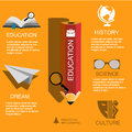 Infographic Education, , flat design, elements