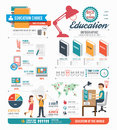 Infographic education template design . concept vector .