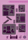 Infographic element Home Royalty Free Stock Photography