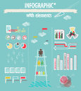 Infographic with elements Royalty Free Stock Photography