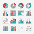 Infographic elements for business report presentation or website isolated vector illustration Royalty Free Stock Images