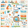Infographic elements and communication concept vector ribbons corners Stock Photos