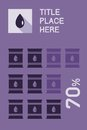Infographic elements flat vector illustration eps Royalty Free Stock Photo