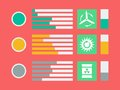 Infographic elements flat vector illustration eps Royalty Free Stock Photography