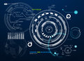 Infographic elements. futuristic user interface HUD. Abstract background with connecting dots and lines. Connection