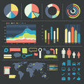 Infographic elements and icons illustration of Royalty Free Stock Photo