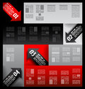 Infographic elements - set of paper arrows Royalty Free Stock Images