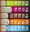 Infographic elements - set of paper tags, Royalty Free Stock Photo