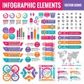 Infographic elements template collection - business vector Illustration in flat design style for presentation, booklet, website Royalty Free Stock Photo