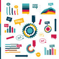Infographic flat collection of simply elements for print or web page vector Stock Photos
