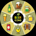 Infographic food icons_beer alcohol