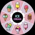 Infographic food icons_ice cream