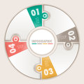 Infographic four steps circular puzzle Royalty Free Stock Photos
