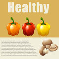 Infographic with fresh vegetable