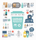 Infographic garbage annual report template design concept vector illustration Royalty Free Stock Images