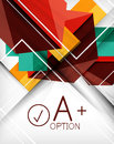 Infographic geometrical shape abstract background Stock Image