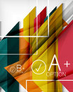 Infographic geometrical shape abstract background Royalty Free Stock Images