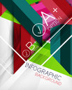 Infographic geometrical shape abstract background Royalty Free Stock Photo