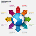 Infographic global business vector design template Royalty Free Stock Photo