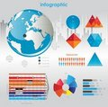 Infographic  graphs and elements. Royalty Free Stock Photography