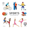 Infographic Health Sport and Wellness Flat Icons Template Design