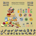 Infographic healthy food nutritional pyramid with Stock Image