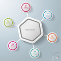 Infographic hexagon colorful rings with big and eps file Royalty Free Stock Photos