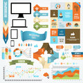 Infographic icon and element collection vector communication concept Stock Images