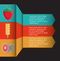 Infographic icon. Nutrition and Organic food. Vector graphic Royalty Free Stock Photo