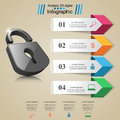 Infographic illustration. Lock icon.