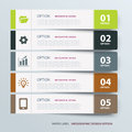 Infographic label tab template elements Royalty Free Stock Photography