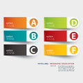 Infographic label tab template elements Royalty Free Stock Photos