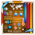 Infographic with a lot of design elements Stock Photo
