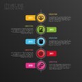Infographic modern horizontal timeline design template. Icons