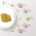 Infographic. Money. Colorful circle with icons. Vector Royalty Free Stock Photo
