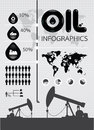 Infographic oil of the world Royalty Free Stock Photo