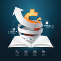 Infographic paper graph book diagram creative . Royalty Free Stock Photo