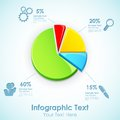 Infographic pie chart illustration of with different label Royalty Free Stock Photography