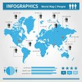 Infographic population of people vector Royalty Free Stock Images